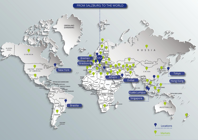 Weltweite Standorte english
